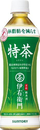 Suntory green tea Italian right Mamoru gate special tea 500ml×24 book