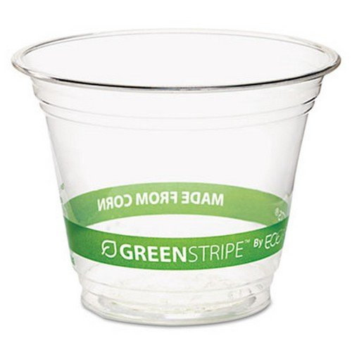Greenstripe Renewable Resource Compostable Cold Drink Cups, 9 Oz., 50/Pack ECOEPCC9SGSPK