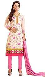 Urfashionguru Women's Chanderi Unstitched Dress Material (UFGDRMSH0594003_Beige_Free Size)