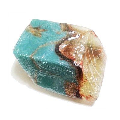 ジェムソープ スピリチュアル170g ターコイズ トルコ石 宝石石鹸 天然石鹸 固形石鹸 アレッポの石鹸