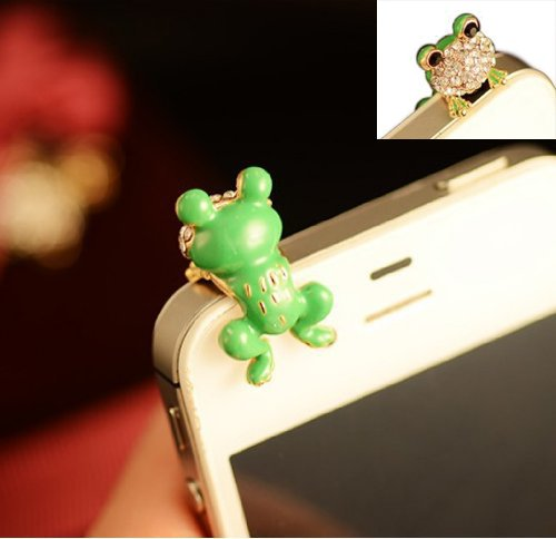T&LOL High quality cute lovely green frog diamond