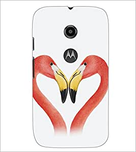 PrintDhaba Love D-5350 Back Case Cover for MOTOROLA MOTO E2 (Multi-Coloured)