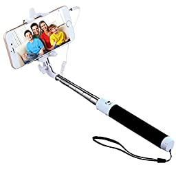 Selfie Stick, SUFUM One-piece 3-In-1Self-portrait Monopod Extendable Selfie Stick for iPhone ISO 5.01 and Smart Phones with Android 4.2.2 system and Above (Black)