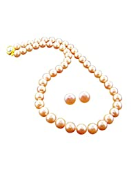 Jpearls Pink Diya Pearl Necklace