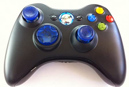 Clear Blue D-pad. Led, Sticks, 17 Mode Drop Shot, Quick Scope, Auto Aim, Dual Rapid Fire, Reprogrammable Xbox 360 Modded Rapid Fire Controller Mw3 Black Ops Mw 2