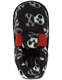 Capelli New York Toddler Boy's Camo Skulls Printed Fleece Moccasin Slippers