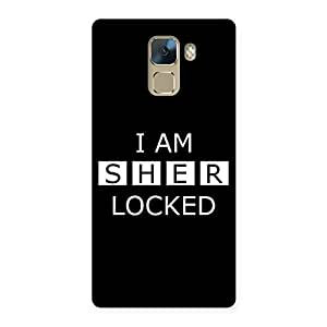 Cute Sher Locked Black Back Case Cover for Huawei Honor 7