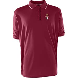Antigua Florida State Seminoles Mens Elite Polo With Bcs Championship Logo Larg by Antigua
