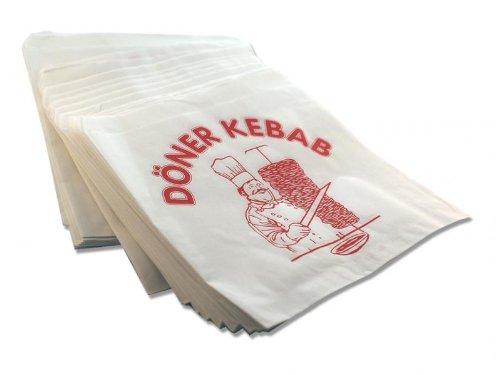 4000 Dönertüten dönertaschen emballage x 16 x 16 cm, avec impression döner kebab dönertüte