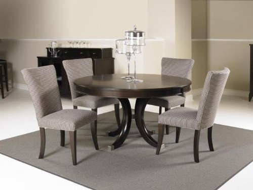 Beautiful Alston Round Oval Pedestal Dining Table by Kincaid Cappuccino