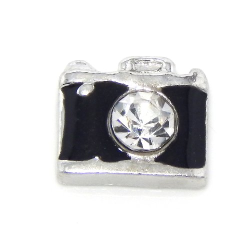 """Jewelry Monster """"Camera W/ Crystal Lens"""" For Floating Charm Lockets 0013"""