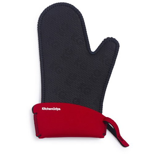 Kitchen Grips Chef's Mitt, Small, Black/Cherry (Oven Mitts Small compare prices)