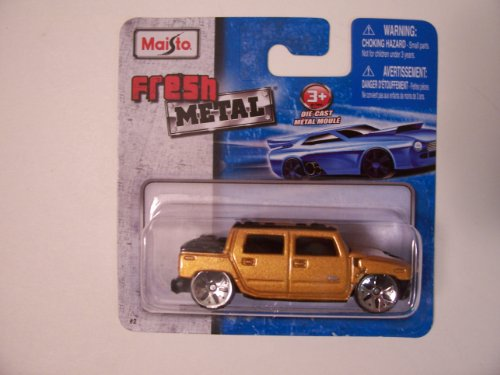 Maisto Fresh Metal Die-Cast Vehicles ~ 2001 Hummer H2 SUT Concept (Golden) - 1