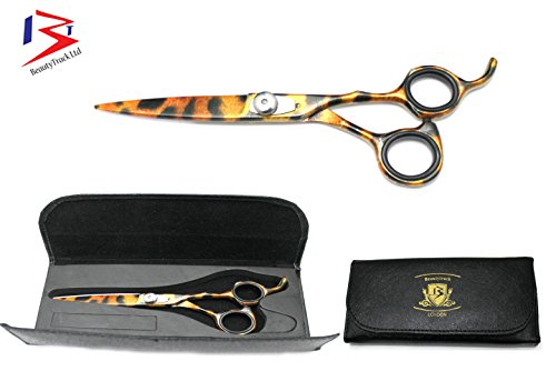 BeautyTarck® - Professionnel Ciseaux de coiffure 5.5 pouces , le tigre MOTIF + étui