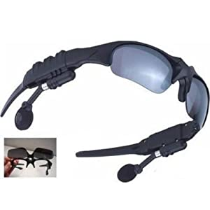 Motorcycle Sunglasses BLUETOOTH MP3 Headset Player / Stereo Song Music Media File Playing Moped Scooter Audio Gadget Accessories Tool Device Equipment Gear Parts Speaker System Portable Motorbike Biker Motocross Dirtbike Supplies Helmet Headphones Earphon