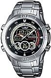 Casio Edifice EFA-115D-1A1VEF Women's Analog and Digital Quartz Multifunction Watch with Steel Bracelet【並行輸入】