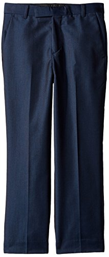 Calvin Klein Big Boys' Fine Linen Pant, Dark Blue, 14