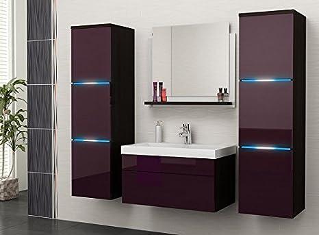Luna mobile da bagno set di accessori per bagno con lavabo Badmöbelset e LED A06