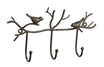 Shabby Cottage Chic Iron Bird Wall Hook