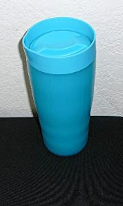Tupperware Limited Edition Aqua Insulated Commuter Mug Tumbler with Dripless Straw Seal by Tupperware