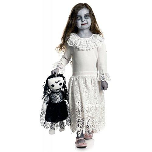 GSG Creepy Doll Costume Kids Scary Halloween Fancy Dress (Creepy Witch Costume)