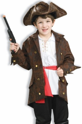 Playful Pirates High Seas Captain Child Costume, Large