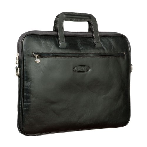 Maxwell Scott: Tutti - Document Carrier, Luxury Italian Leather, Night Black
