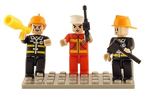 Brictek Fire Fighter 3 Piece Figure Set