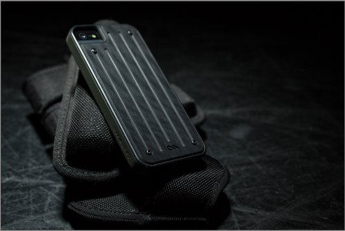 【Garolite G-10素材採用】 Case-Mate 日本正規品 iPhone5s / 5 Caliber Case, Black / Black キャリバー ケース ブラック / ブラック CM029391 [GENUINE G10 BALLISTIC COMPOSITE]
