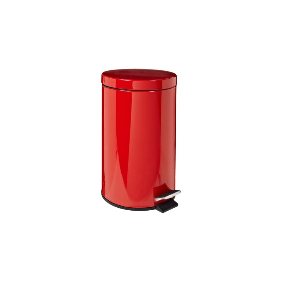 Rubbermaid Commercial Economical Step Can, Round, Steel, 3 1/2 Gallons, Red (MST35ERD)