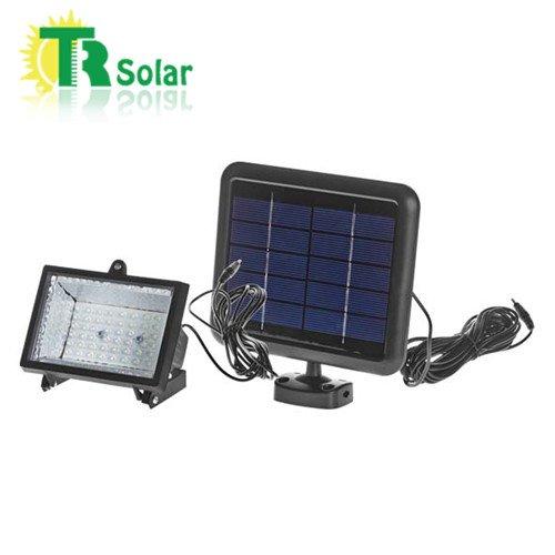 Solar Led Light System 2W Solar Panel 3W Led Flood Light 2Ah Li-Ion Battery Portable Household Outdoor Solar Sunlight Charger Energy Power Lighting System