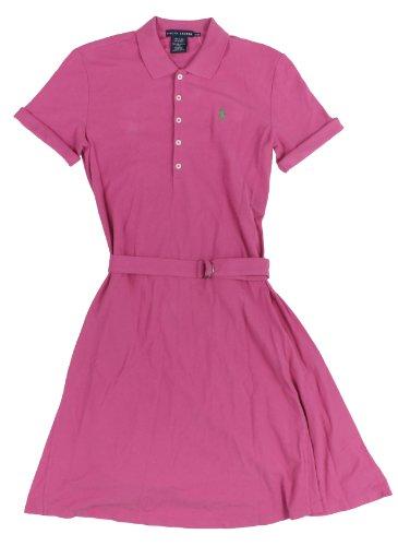 Ralph Lauren Blue Label Women's Mesh Polo Dress, Large, Belmont Pink