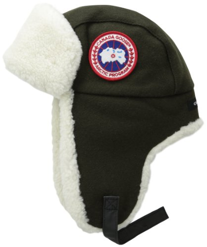 Canada Goose Merino Wool Shearling Pilot Hat, Military Green, Small/Medium (Canada Goose Merino Wool Hat compare prices)