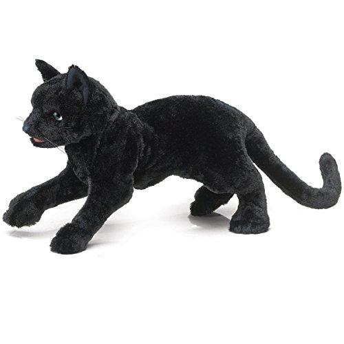 フォークマニス Folkmanis 黒猫 クロネコ ブラックキャット ハンドパペット ぬいぐるみ(並行輸入品)