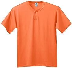 Augusta Youth Six-Ounce Two-Button Baseball Jersey ORANGE Medium