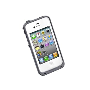LifeProof Case for iPhone 4/4S- Retail Packaging - White/Grey