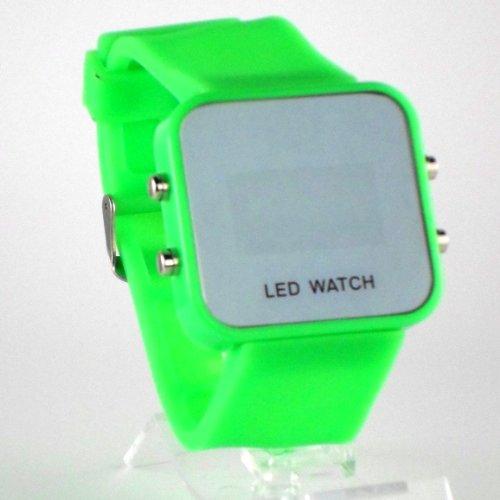 Montres accessoires montre led miroir watch color for Miroir noir watch online