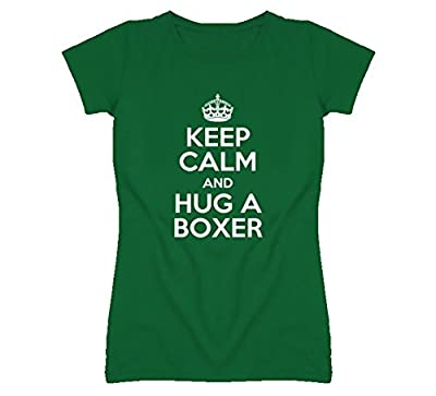 Keep Calm and Hug Boxer Rescue Dog T Shirt