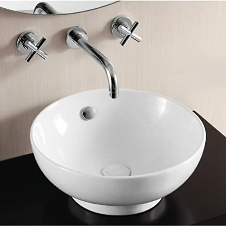 Caracalla Caracalla CA4947-No Hole-637509827465 Ceramica II Collection Bathroom Sink, White