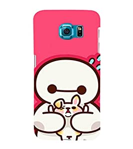 EPICCASE Cute Teddy cover Mobile Back Case Cover For Samsung Galaxy S6 Edge (Designer Case)