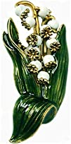 Faberge Lily-of-the-valley Basket Brooch