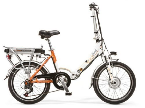 WORLD DIMENSION ELEKTROFAHRRAD Faltrad ELECTRIC BIKE ECOBEND 26'' 6S Weiß ORANGE