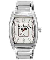 Maxima Attivo Analog White Dial Mens Watch - 35360CAGI