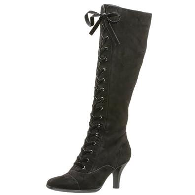 Aerosoles Women's Martial Part Lace-Up Boot,Black Suede,5 M