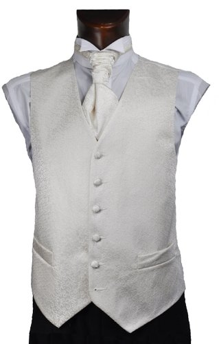 Boys Ivory Scroll Wedding Waistcoat
