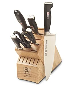 Zwilling J.A. Henckels Twin Four Star II 7-Piece Knife Set with Block