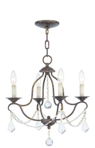 B005G6TFEA Livex Lighting 6424-71 Chesterfield Mini Chandelier