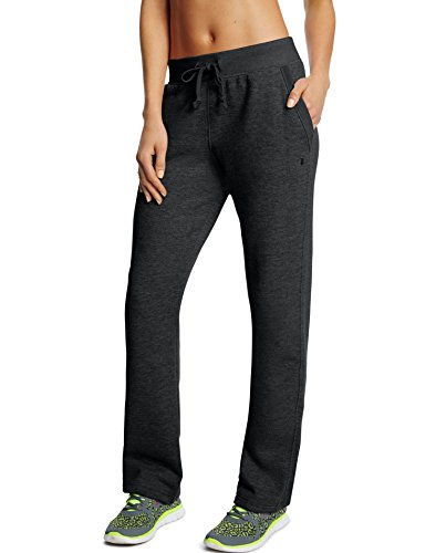 Champion Women's Fleece Open Bottom Pant, Black, Medium (Womens Casual Pants compare prices)