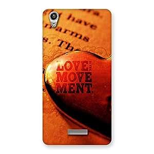 Stylish Love Movement Back Case Cover for Lava-Pixel-V1
