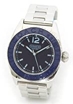 Coach women boyfriend style watch Andee collection blue dial with SS bracelet 14501381